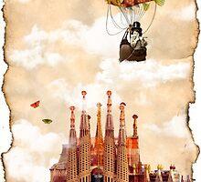 Flight over my castle by amira