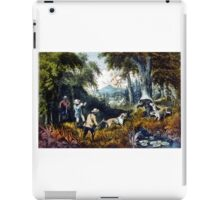 Bear Hunting - close quarters - 1907 - Currier & Ives iPad Case/Skin