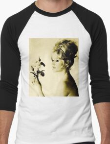 Brigitte Bardot Hollywood Icon by John Springfield Men's Baseball ¾ T-Shirt