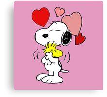 hug valentine snoopy peanut Canvas Print