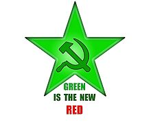 Green Is The New Red Photographic Print