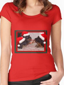 A Time Of Joyous Giving Greeting Vector Women's Fitted Scoop T-Shirt