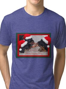 A Time Of Joyous Giving Greeting Vector Tri-blend T-Shirt