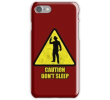 "Freddy Krueger ""Caution Don't Sleep"" iPhone Case/Skin"