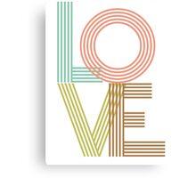 LOVE - typography Canvas Print