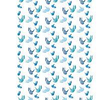 Harry Styles Blue Birds Photographic Print