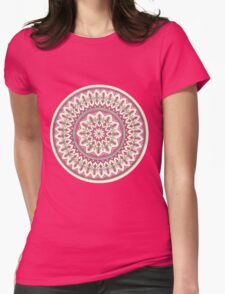 Hand Drawn Cream And Pink Pretty Mandala  T-Shirt