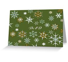 To Dad At Christmas Greeting With Snowflakes Greeting Card