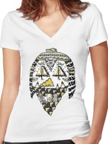 Ancient Thug Women's Fitted V-Neck T-Shirt