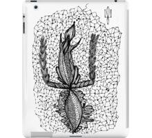 Doodle squirrel, Ukrainian symbol coat of arms iPad Case/Skin