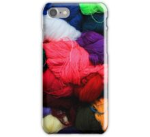 Colorful Yarn at the Market iPhone Case/Skin