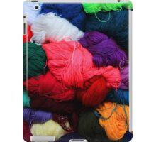 Colorful Yarn at the Market iPad Case/Skin