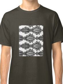Fox Doodle Symbol Black and White Willage Classic T-Shirt
