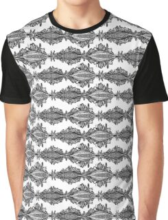 Fox Doodle Symbol Black and White Willage Graphic T-Shirt
