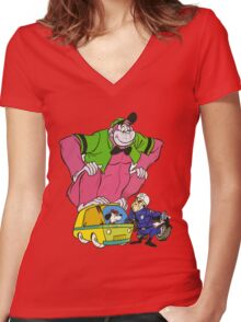 The Great Grape Ape Women's Fitted V-Neck T-Shirt