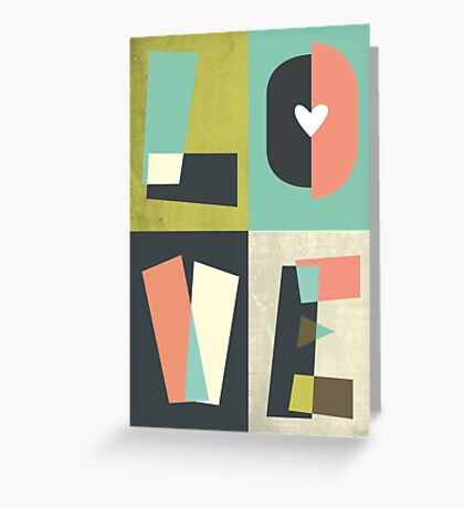 LOVE - typography full colour Greeting Card