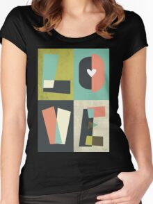 LOVE - typography full colour Women's Fitted Scoop T-Shirt