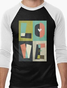 LOVE - typography full colour Men's Baseball ¾ T-Shirt