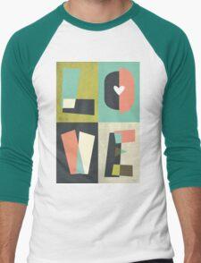 LOVE - typography full colour Men's Baseball ¾ T-Shirt