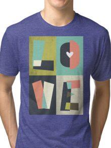 LOVE - typography full colour Tri-blend T-Shirt
