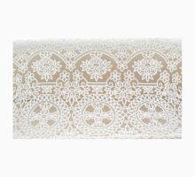 White Battenburg lace pattern handmade Kids Tee