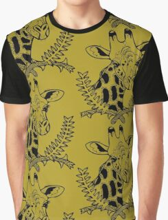 Giraffe and Acacia Graphic T-Shirt
