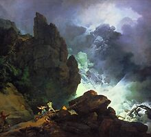 Phillip James De Loutherbourg - An Avalanche in the Alps, Tate Britain by Adam Asar