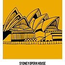 World Sketches - Sydney Opera House by springwoodbooks