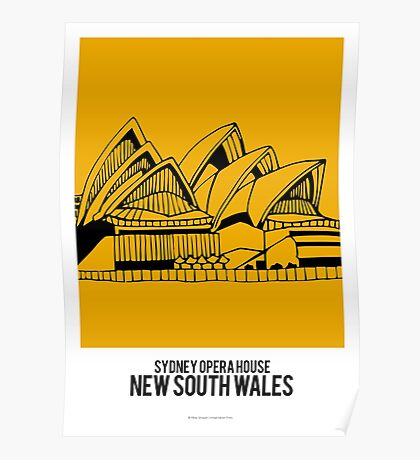 World Sketches - Sydney Opera House Poster