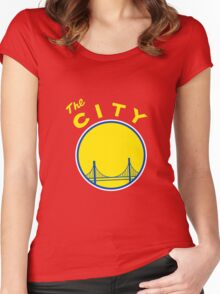 Golden_State_Warriors_Retro Women's Fitted Scoop T-Shirt
