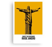 World Sketches - Christ The Redeemer - Brazil - by Mikey Simpson Canvas Print