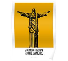 World Sketches - Christ The Redeemer - Brazil - by Mikey Simpson Poster