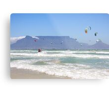 Kites Dancing Around Table Mountain - Cape Town, South Africa Metal Print