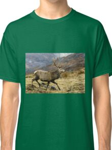 Red Deer Stag Running Classic T-Shirt
