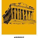 World Sketches - Acropolis Sketch - Athens - Greece by springwoodbooks