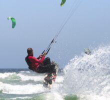 Fun with Wind & Water - Kitesurfing - Cape Town, South Africa Sticker