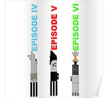 Episode 4-6 lightsabers with text Poster