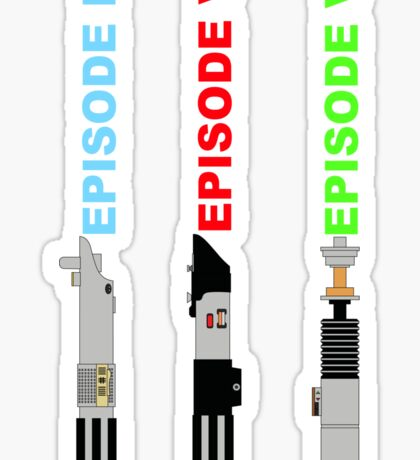Episode 4-6 lightsabers with text Sticker