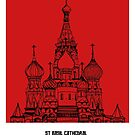 World Sketches - St Basil Cathedral Sketch - Moscow by springwoodbooks
