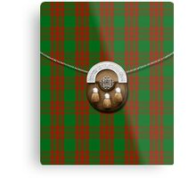 Clan Menzies Tartan And Sporran Metal Print