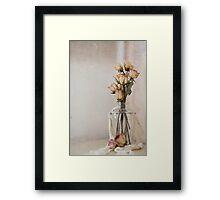 Faded Roses Framed Print