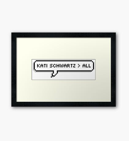 Kati Schwartz > All Framed Print
