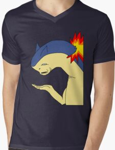 Typhlosion doesn't get it Mens V-Neck T-Shirt