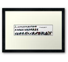 Kaiju Size Chart Framed Print