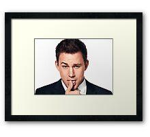 Funny Face Channing Tatum Framed Print