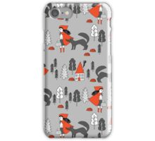 Red Riding Hood fairy tale children nursery kids pattern andrea lauren  iPhone Case/Skin