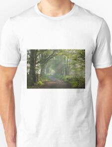 Countryside track in early morning sunlight Unisex T-Shirt