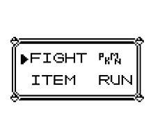 Pokémon Gameboy Menu Photographic Print