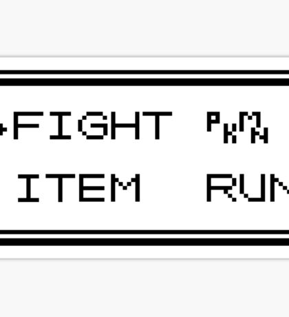 Pokémon Gameboy Menu Sticker