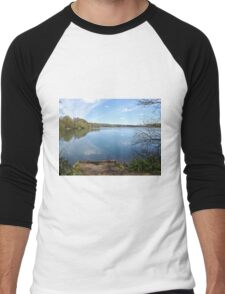 Lake and Reflection Men's Baseball ¾ T-Shirt